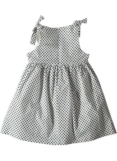 Puantiyeli Poplin Elbise-Asymmetry